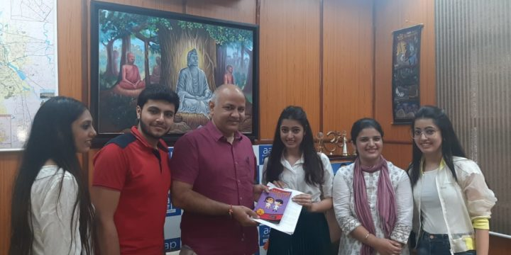 Our Voix Team meet Shri Manish Sisodia Sir